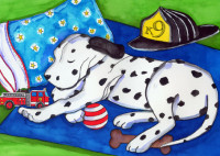 Dog Tired Dalmation