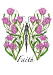 Rose Faith Butterfly