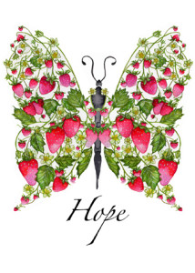 Strawberry Hope Butterfly