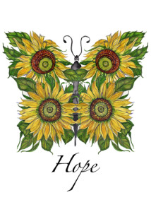 Sunflower Hope Butterfly
