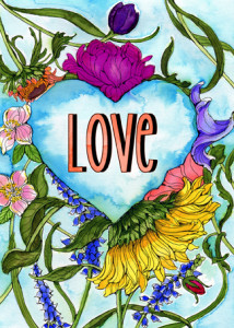 Love is all around you card